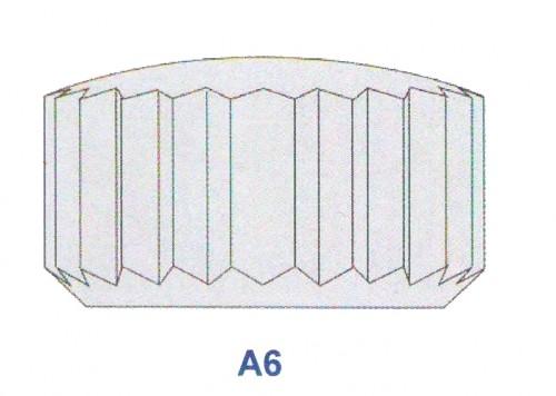 """Corona impermeabile inox diametro tubetto 1,60 forma """"A6"""" ref. 70.16"""