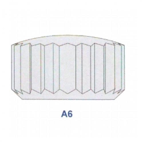 "Corona impermeabile cromata diametro tubetto 1,80 forma ""A6"" ref. 50.18"