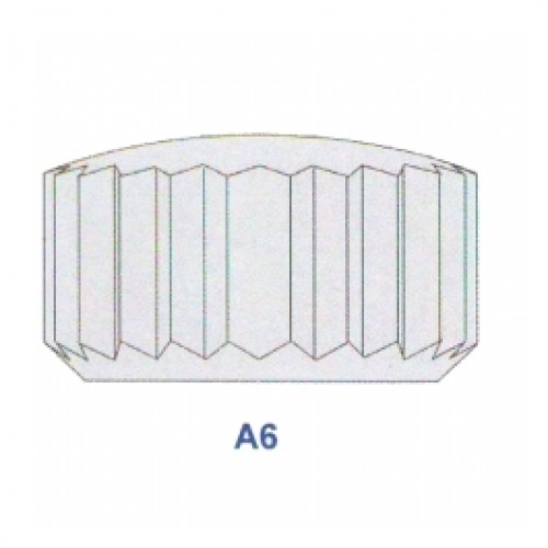 "Corona impermeabile cromata diametro tubetto 2.00 forma ""A6"" ref. 50.20"