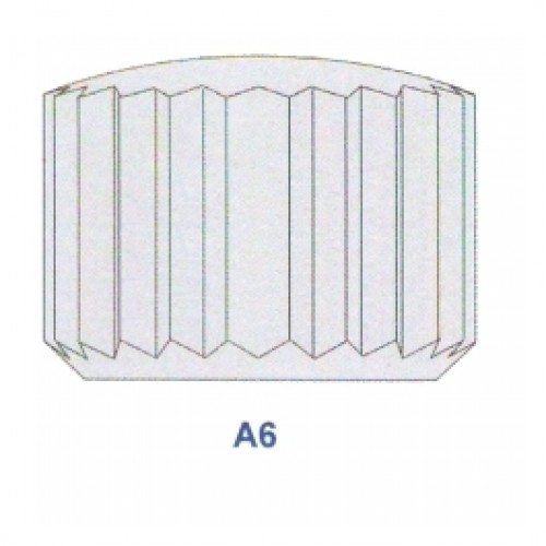 """Corona impermeabile inox con doppio OR diametro tubetto 2.50 forma """"A6"""" ref. 170.27"""