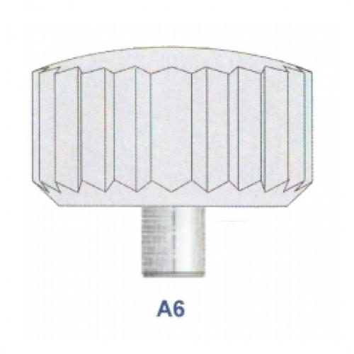 "Corona impermeabile cromata diametro tubetto 2.50 forma ""A6"" ref. 52.25"