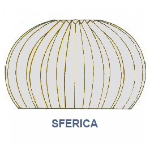 """Corona impermeabile cromata diametro tubetto 2.50 forma """"SFERICA"""" ref. 191.35"""