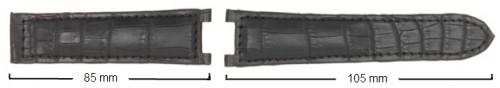 Cinturino in alligatore opaco ribordato imbottito anche per Pashà - Cartier (misura donna)